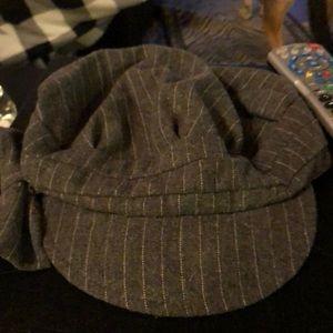 Accessories - Gray Pin stripe hat